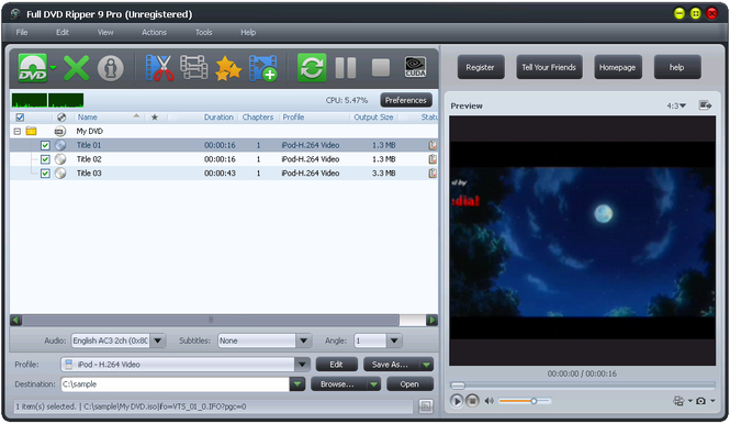 Full DVD Ripper Free Screenshot 1