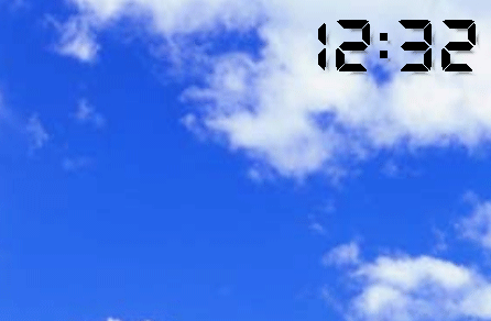 Transparent Clock-7 Screenshot