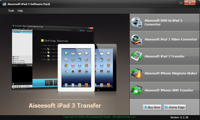 Aiseesoft iPad 3 Software Pack Screenshot