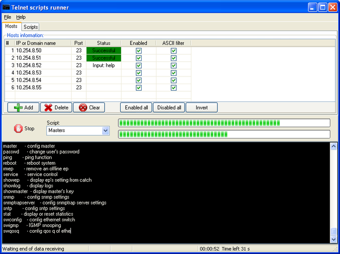 AgataSoft Telnet Scripts Runner Screenshot 1