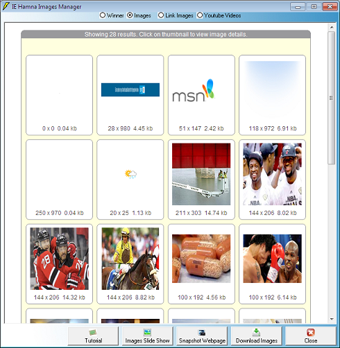 IE Hamna Images Manager Screenshot
