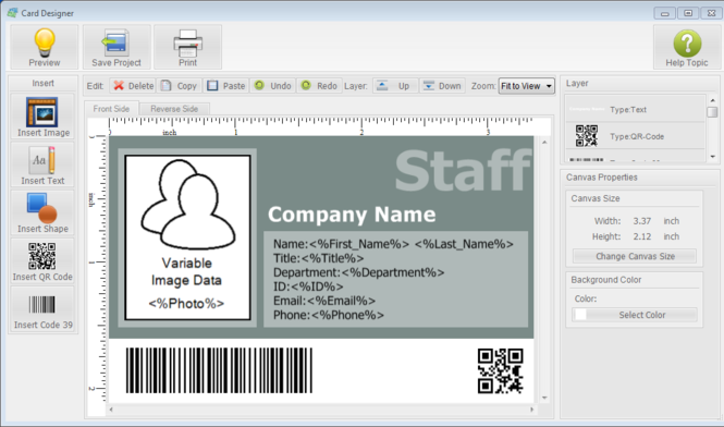 ID Card Workshop Screenshot