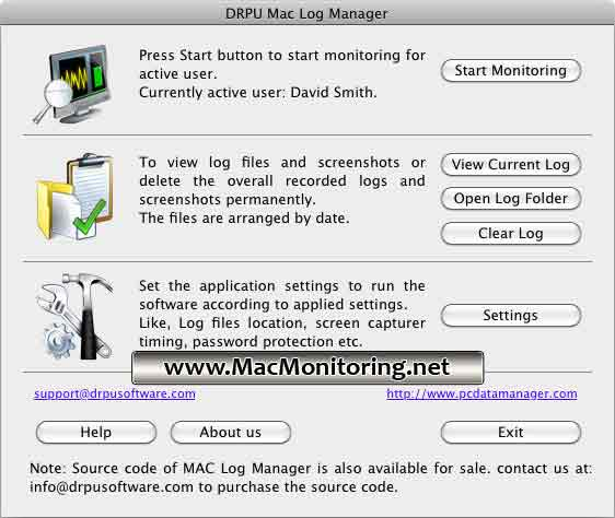 Mac Monitoring Screenshot