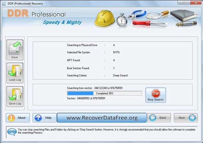 Recover Data Free Screenshot 1
