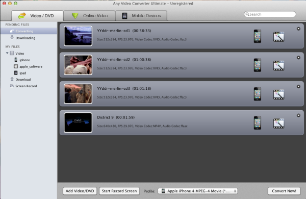 Any Video Converter Ultimate for Mac Screenshot