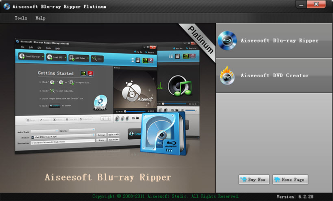 Aiseesoft Blu-ray Ripper Platinum Screenshot 1