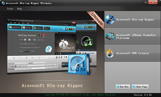 Aiseesoft Blu-ray Ripper Ultimate Screenshot