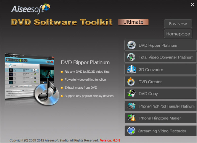 Aiseesoft DVD Software Toolkit Ultimate Screenshot 1