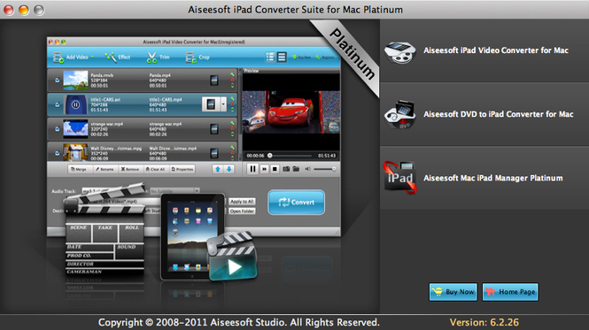 Aiseesoft iPad Converter Platinum Mac Screenshot