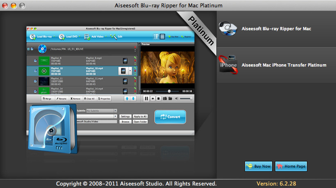 Aiseesoft Blu-ray Ripper Mac Platinum Screenshot