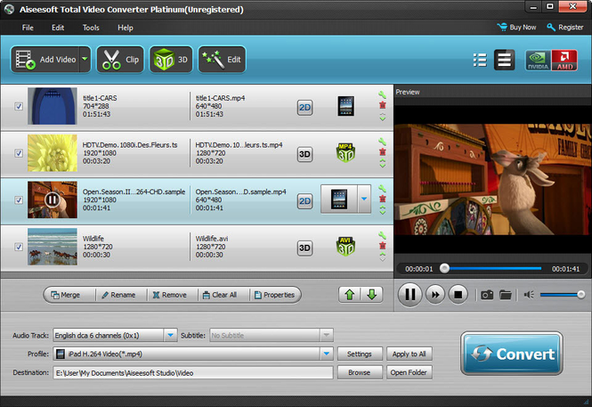 Aiseesoft Total Video Converter Platinum Screenshot