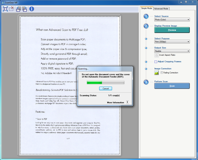 Advanced Scan to PDF Free Screenshot 2