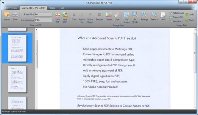 Advanced Scan to PDF Free Screenshot 1
