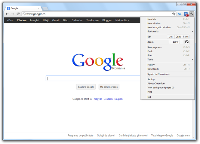 Chromium Screenshot 1