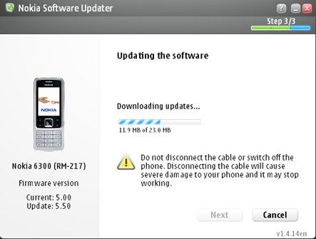 Nokia Software Updater Screenshot 3