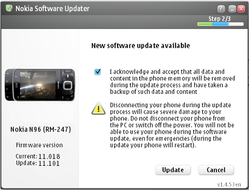 Nokia Software Updater Screenshot 2