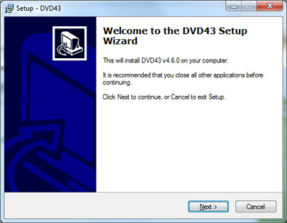 DVD43 Plug-in Screenshot