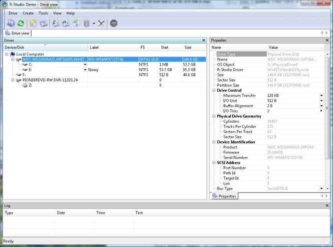 R-Studio Screenshot 2