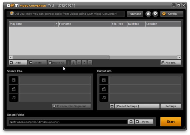 GOM Video Converter Screenshot