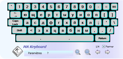 MA Keyboard: virtual keyboard Screenshot