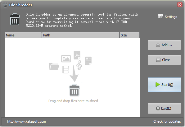 Super File Shredder Screenshot