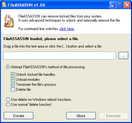 FileASSASSIN Screenshot 1