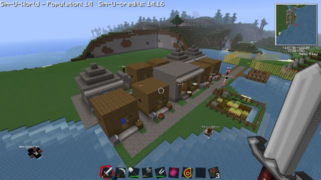 Sim-U-Kraft Mod for Minecraft 1.2.5 Screenshot