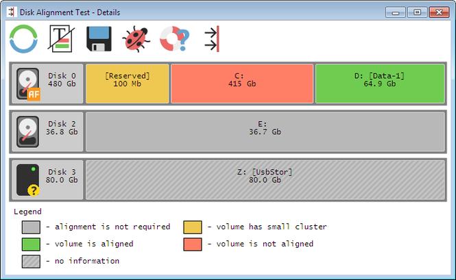 Disk Alignment Test Screenshot