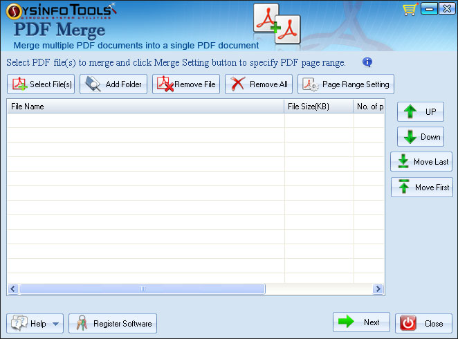 SysInfoTools PDF Merge Screenshot