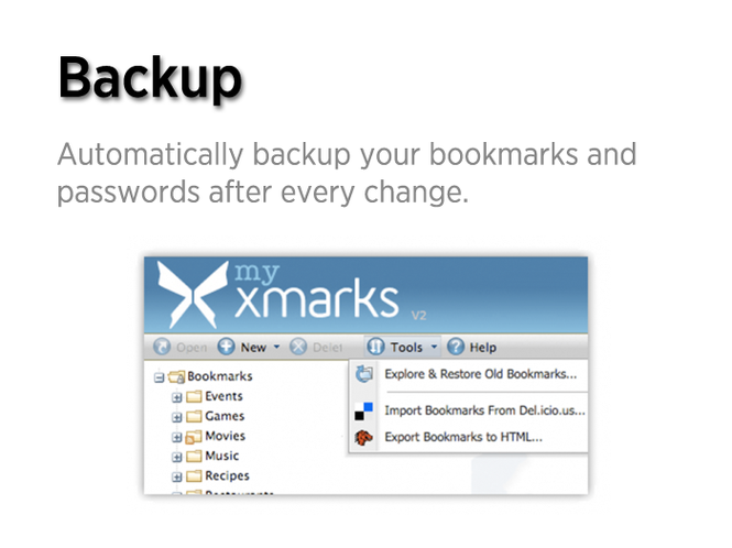 Xmarks Screenshot