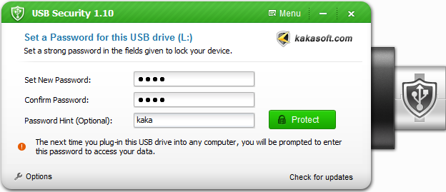 Kaka USB Security Screenshot