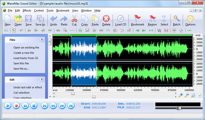 WaveMax Sound Editor Screenshot 1