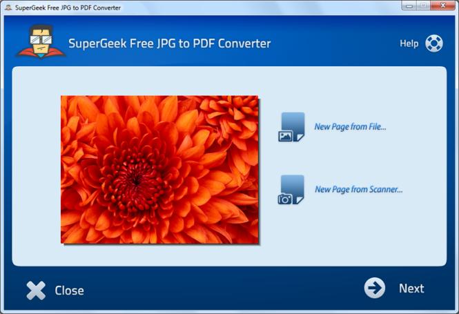 SuperGeek Free JPG to PDF Converter Screenshot