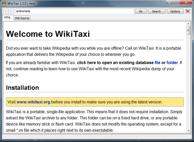 WikiTaxi Screenshot