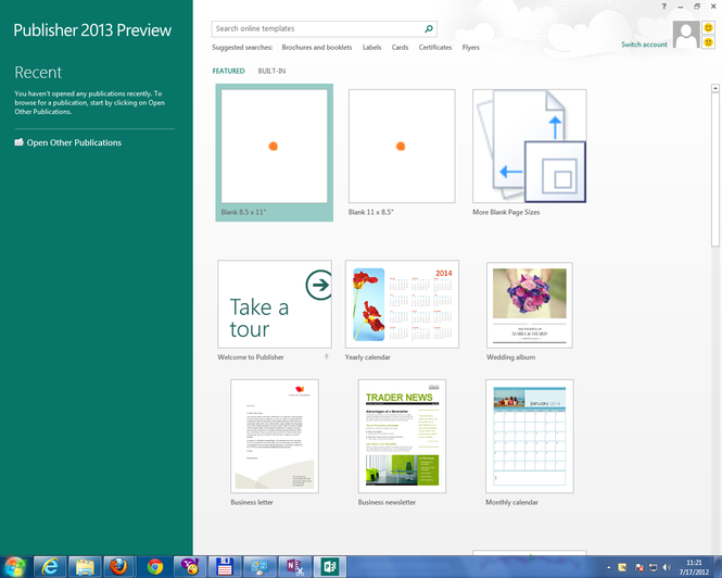 Microsoft Office 2013 Home Premium Preview Screenshot 6
