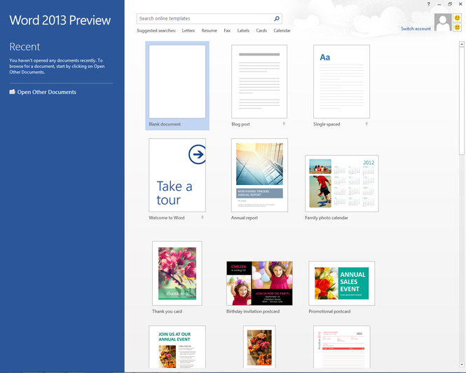 Microsoft Office 2013 Home Premium Preview Screenshot 1