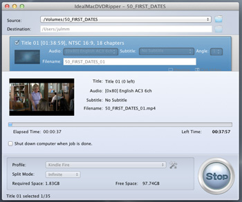Ideal Mac DVD Ripper Screenshot 1