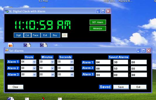 SL Talking Alarm Clock 2011 Screenshot 1