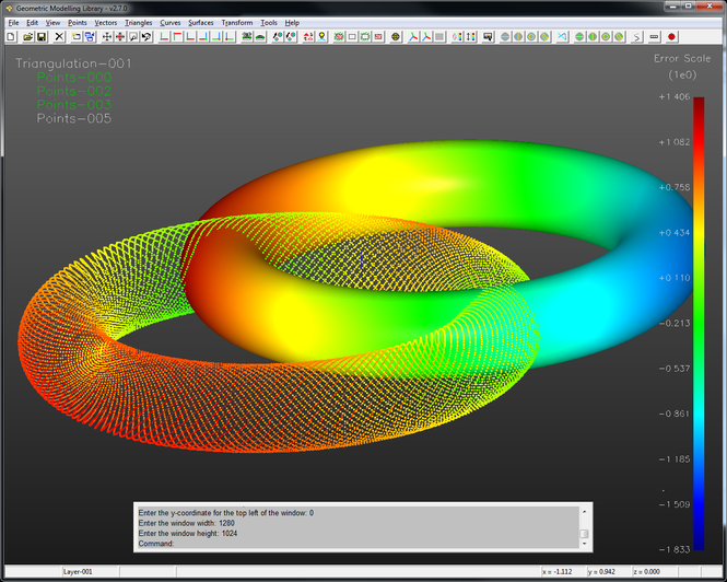 GML - The Geometric Modelling Library Screenshot