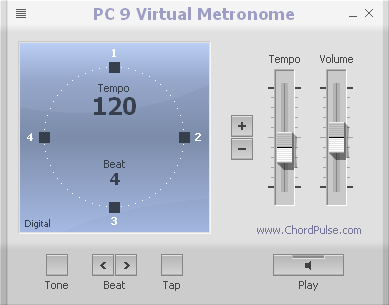 PC 9 Virtual Metronome Screenshot 1