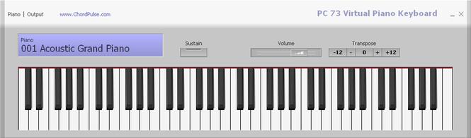 PC 73 Virtual Piano Keyboard Screenshot 1