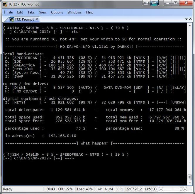 HD DRiVE-iNFO Screenshot 1