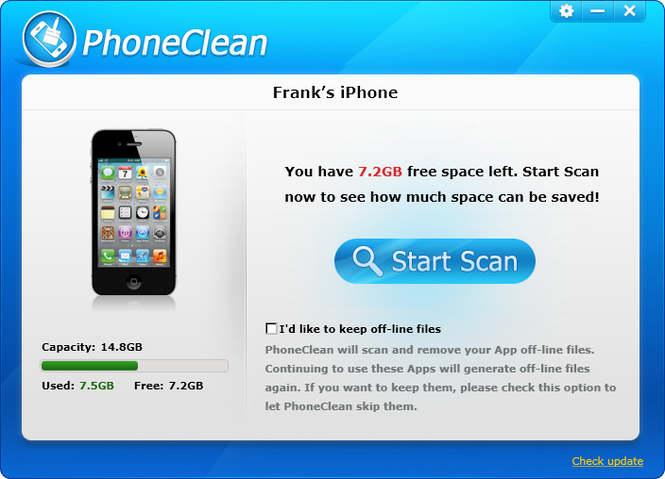 PhoneClean Screenshot