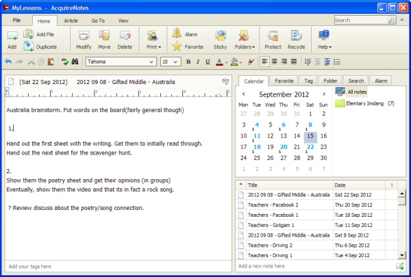 AcquireNotes Screenshot