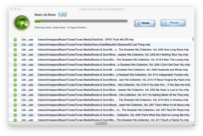 Leawo Tunes Cleaner for Mac Screenshot 3