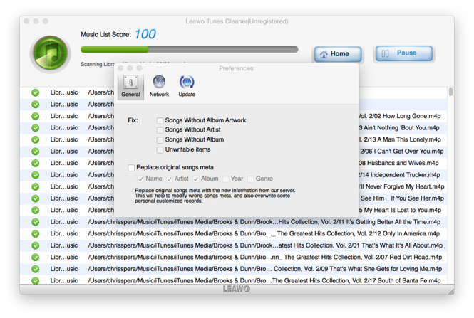 Leawo Tunes Cleaner for Mac Screenshot 4