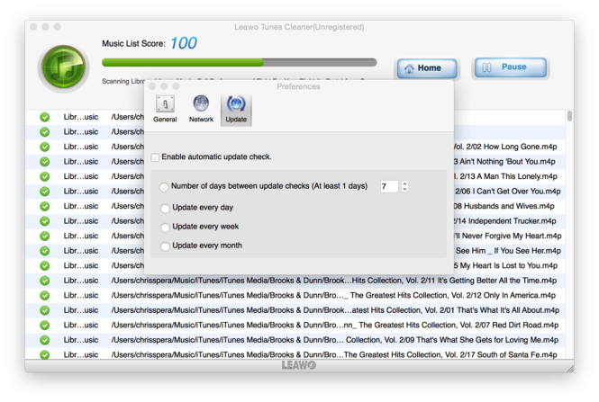 Leawo Tunes Cleaner for Mac Screenshot 6