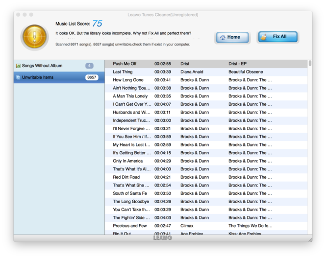 Leawo Tunes Cleaner for Mac Screenshot 8