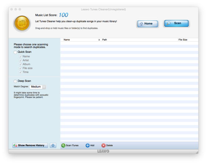 Leawo Tunes Cleaner for Mac Screenshot 9