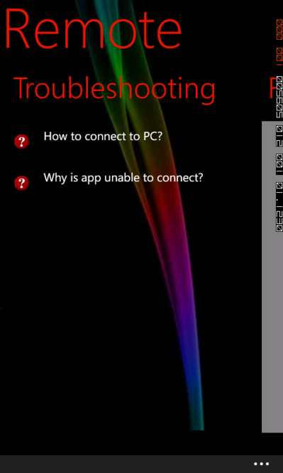 how to connect pc remote server